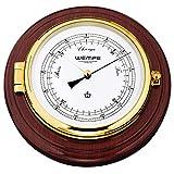 Wempe Messing / Mahagoni Barometer Skipper Ø 210mm