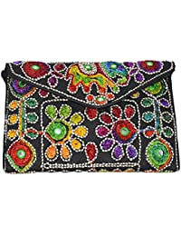 Gujrati/Rajasthani/jaipuri Hand Bag Clutch/sling Bag Traditional Indian Art Silk Bag Foldover Clutch For Women...