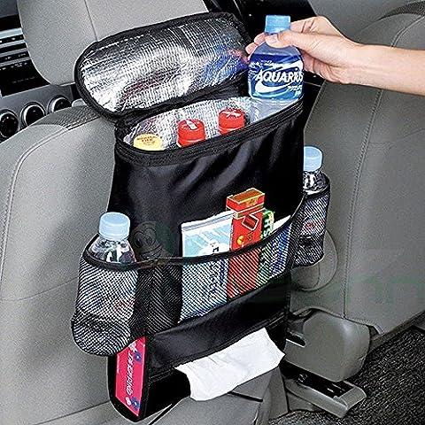Organizzatore borsa termica tasche salva spazio sedile auto porta bibite oggetti organizer