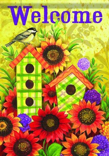 Fall Vogelhaus Welcome Harvest Sunflower Thanksgiving doppelseitig House Flagge 28x 40