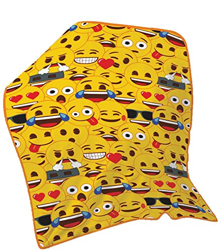 Kinder Disney PJ Masken WWE Stars Fleecedecke Kids Schlafzimmer 100x 150cm Geschenk Emoji Multi Yellow Face (Pj Disney Neue)