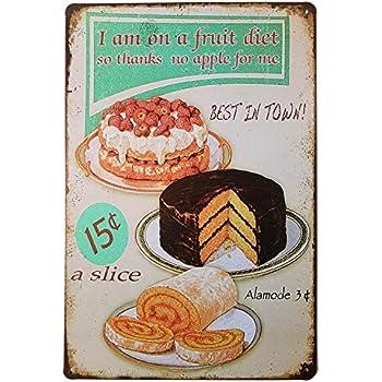Retro Metal Poster Decoration Mur Affiche avec Imprime Cuisine Maison Exp/édi/é de FR Garage 504 Jardin Biere Pub Garage Ducomi Vintage Plaque M/étallique D/écorative Mural Grand Choix Cafe