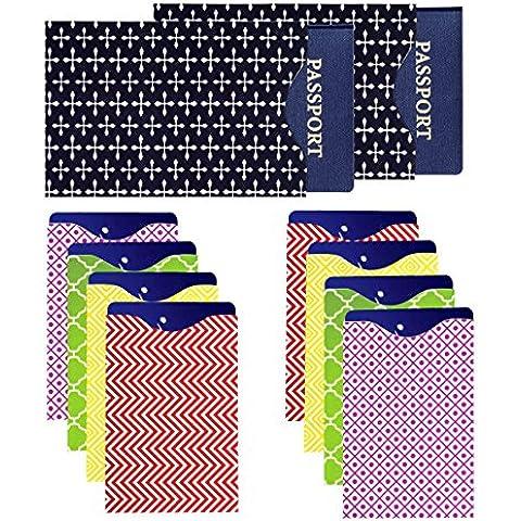 Laminado Pasaporte y tarjeta de crédito Protector - Set de 8 tarjeta de crédito y 2 Passport RFID bloqueo; Fit en la cartera y monedero en las