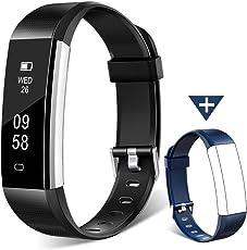 HOMOGO Fitness Tracker Watch, H2orologio fitness Activity Tracker con monitoraggio sonno, contapassi intelligente per passo distanza calorie Track
