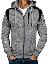 BOLF – Sweat - Capuche – Manches longues – Hoodie – Motif - Homme