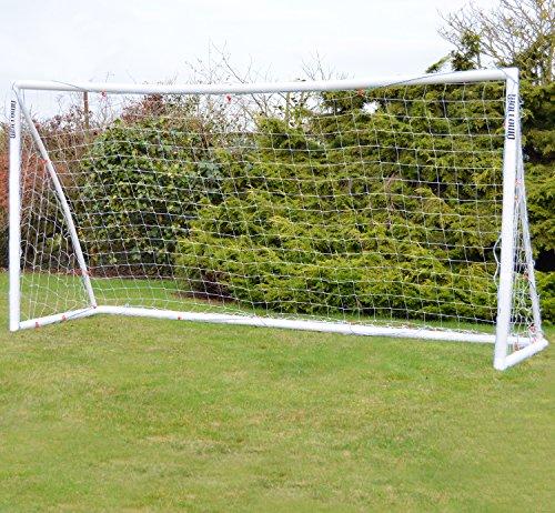 Wollowo - Fußballtor mit Stecksystem - UPVC-Pfosten - Weiß - Weiß - 3,66 x 1,83 m (12 x 6 ft) (12 X 8 Fußballtore)