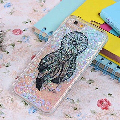 iPhone 6/6S Hülle - 3D Kreatives Design Luxus Shiny Flow Sand Entzückende Fließende Schwimmende Moving Shiny Glitzer Sequins Bling Cute Pattern Shell für iPhone 6/6S - Girl Boss 12-H