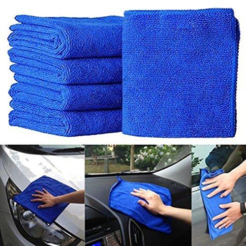 YENJOS 5 PCS Mikrofaser quadratisches Wasser Absorptions Nicht fallendes Haar Auto Reinigungs Tuch Reinigungszubehör