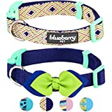 Blueberry Pet Doppelpack Mix & Match Beeindruckende Brillianten Designer Hundehalsband mit Fliege-Deko, S