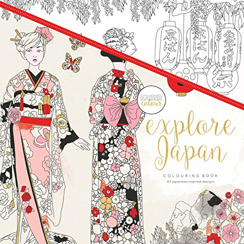 Kaisercraft - Libro para colorear Explore Japan (CL507)