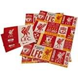 Liverpool F.C. Official Liverpool Football Club Gift Wrapping Paper, Includes 2 Sheets and 2 Gift Tags, Multi, b01gwplv