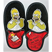 The Simpsons - Zapatillas de estar por casa para hombre negro negro