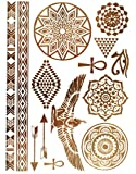 KLIMBIM Bling your Body mit Flash Metallic Tattoos Gold Schmuck Tattoo für Körper Finger Arme viele Designs (No.29)