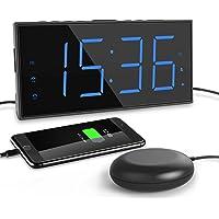 ROCAM Réveil Vibrant,LED Réveil Numérique pour Dormeurs Profonds et Malentendants et Sourds, Grand écran 7 '' et…