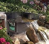 Cascada para estanque, incluyendo el sistema de filtrado, ruta para el arroyo, filtro para el estanque; anchura:43 cm.