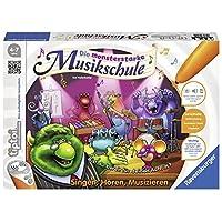"""Ravensburger-00555-Tiptoi-Spiel-Die-monsterstarke-Musikschule Ravensburger tiptoi 00555 – """"Die monsterstarke Musikschule"""" / Spiel von Ravensburger ab 4 Jahren / Singen – Hören – Musizieren: lerne spielerisch die Welt der Musik kennen -"""