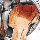 Excerando Cane Hammock di corsa con scatto registrabile Fibbie Copertura di sede animali durevole Heavy Gauge impermeabile del tessuto auto Indietro - 135 x 47 x 50 cm(Arancia)