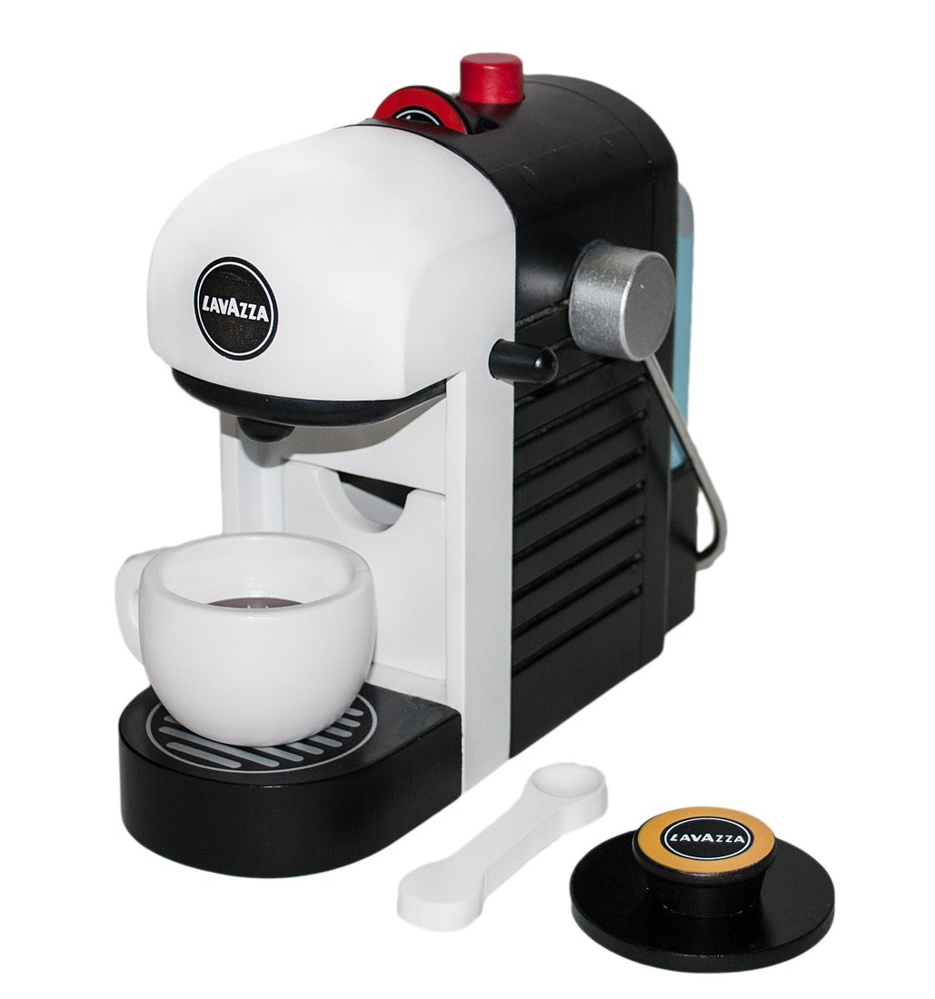 61wOaEzetpL - Tanner 0994.1 Lavazza coffee machine, original wooden with realistic game functions, white