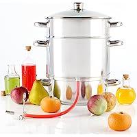 Torrex® 30280 - Extracteur de jus vapeur en acier inoxydable Ø26 / 15 l, passe au lave-vaisselle et compatible avec tous les appareils de cuisson, y compris l'induction