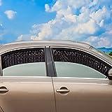 ZATOOTO zijraam zonneschermen voor auto (2 stuks), magnetisch autogordijn om UV-stralen te blokkeren en voor privacy, zwart