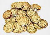 44 Stück; Piraten-Schatz - Gold-Münzen - für Kindergeburtstag - Schatzsuche - Piratenparty