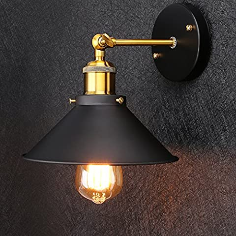 Linkax Rétro Lampe Applique murale Ombres Moderne industrielle Ensemble de lampe murale Metal Retro Applique murale pour Maison Bar Restaurants café Boutique club Décoration (Ampoules non comprises)