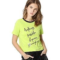 ONLY Women's Regular fit T-Shirt (2183433002_Sulphur Spring_M)