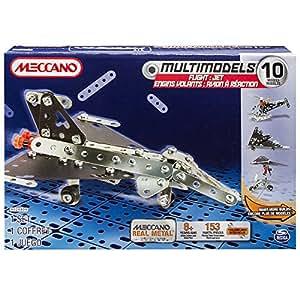 Meccano - 6024809 - Jeu De Construction - Avion A Réaction - 10 Modèles