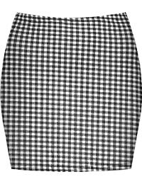 WearAll - Damen Bedruckt Dehnbar Jersey Figurbetontes Kurz Mini-Rock - 12  Mustern - Größen f75b836e41