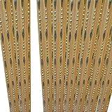 Godagoda Perlen Fadenvorhang Kette Wandvorhang Balkonvorhang Türvorhang Fliegenschutz Fadengardine Raumteiler mit Kristallquaste 100x200cm Beige