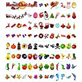 199 Cinema Sign Cards,CrazyFire 95 Colourful Letters and 105 Festival Decorative Cards for A4 LED Light Box,Halloween Christmas Festival Decoration Symbols