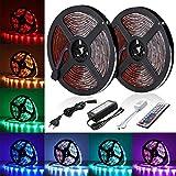 AMBOTHER LED Streifen LED Strip 10M RGB 5050SMD 300 LED Lichtband IP65 Wasserdicht LED Bänder Lichterkette mit...