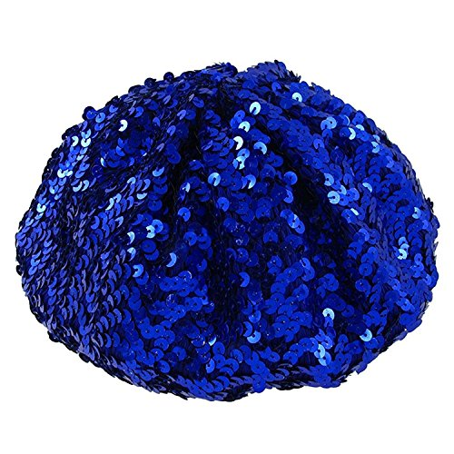 Ladies Blue Sequin Hat for Agnetha ABBA Costume.