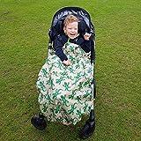 BundleBean Childs Wheelchair Rain Cover/Cosy / Special Needs Buggy Cosy - waterproof, fleece, universal fit Geckos