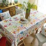 QsyyHome Frischer Stil Forest Bird TISCHDECKE Baumwolle und Leinen Schuhe TV-Schrank Bett Flagge Essen/Tee/TV-Tisch, multi, 55 x 70inch (140 x 180cm)