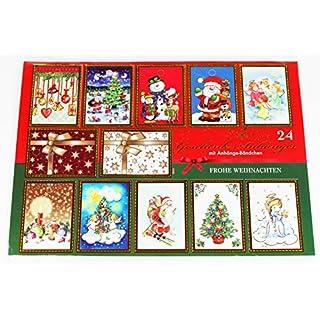 Kamaca 120 er Paket (= 5 x 24 er Pakete) Geschenkanhänger/Anhänger mit Goldkordeln - Perfekte Namensaufkleber/Etiketten für Ihre weihnachtlichen Geschenke - tolle glänzende Motive