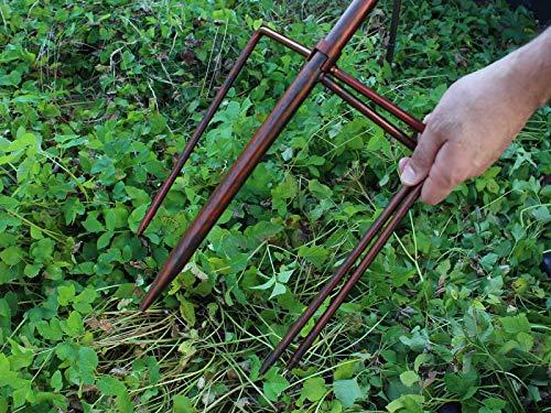 HAFIX Windrad Metall Blumenmuster Windspiel Metallwindrad Gartendeko rund Wind Mühle mit Erdspieß - 8