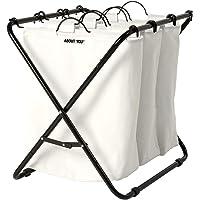 ABOUT YOU Panier à linge « Homie » avec trois sacs à linge amovibles, panier à linge spacieux pour trier et séparer le…