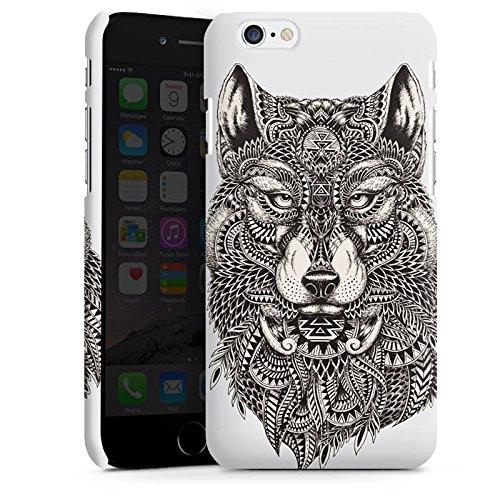 Apple iPhone 5s Hülle Case Handyhülle Mandala Wolf Hund Premium Case matt