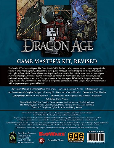 Dragon Age Game Master's Kit, Revised Edition - Master Game Rpg