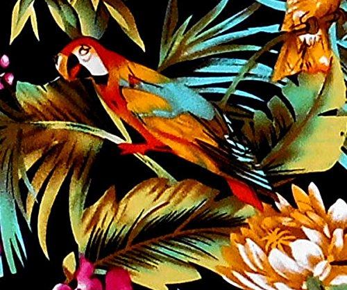 """Chemise Hawaienne Homme """"Jungle Parrots"""" 100% coton, taille M – 6XL, vert Vert"""