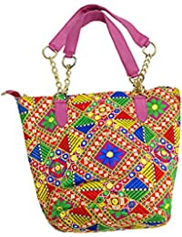 Ratnatraya Ethnic Women's Traditional Jaipur Colorful Designer Handicrafts Hand Bags For Mother, College Girls... - B0773NFLRJ