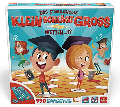 Goliath 70011 - Klein Schlägt Groß, Familienspiel, Kinder spielen gegen Erwachsene, Quizspiel mit Kinder- und Erwachsenenfragen mit unterschiedlichem Schwierigkeitsgrad, ab 6 Jahren (Große Spiele)