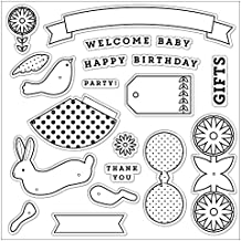 """Fiskars Clear Stamps 8""""X8""""-Woodland Party"""