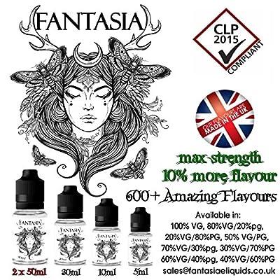 Honigmelone MAX STÄRKE E Liquid E Saft E Shisha Öl 60%VG/40%PG 0mg Nikotin 100ml von Fantasia E Liquids