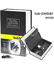 Pindia Dictionary Book Style Jewellery Safe Cash Box Locker with Key (240x155x55 mm, Random)