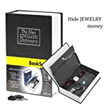 Pindia Dictionary Book Style Jewellery Money Safe Cash Box Locker with Key - 265x200x65 mm