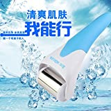 ThinkMax Stainless Steel Head Cold Therapy Skin Calm Cool Ice Roller Face Body Massager Facial Skin Rejuvenation Roller Care Massager