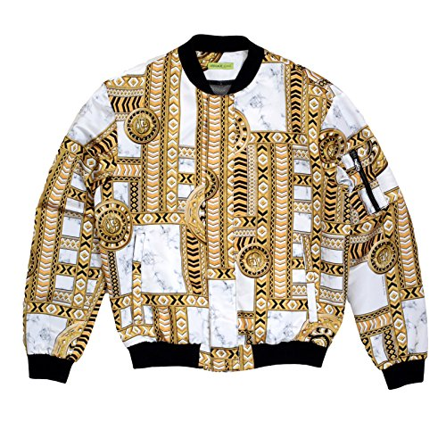 VERSACE -  Giacca - Uomo Black and Gold X-Large