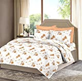 Bombay Dyeing Celiosa 120 TC Cotton Double Bedsheet with 2 Pillow Covers - Orange